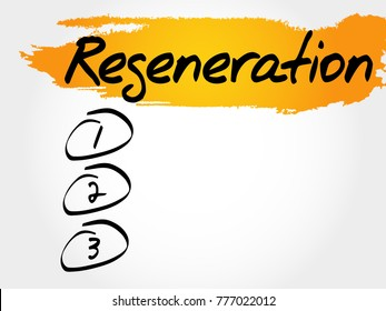 Regeneration blank list, fitness, sport, health concept