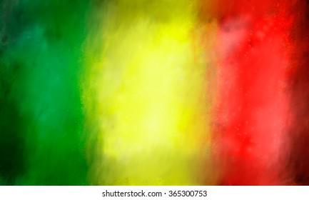 reggae colored background
