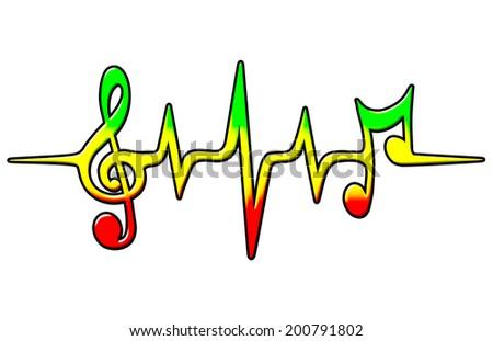 Reggae Music Pulse Bass