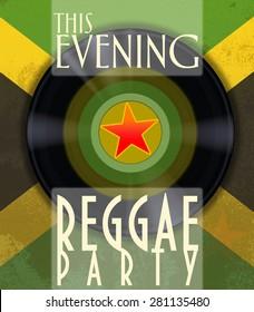 Reggae party poster