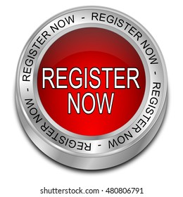 Register now Button - 3D illustration