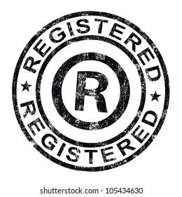 Registered Stamp Showing Copyright Or Trademark