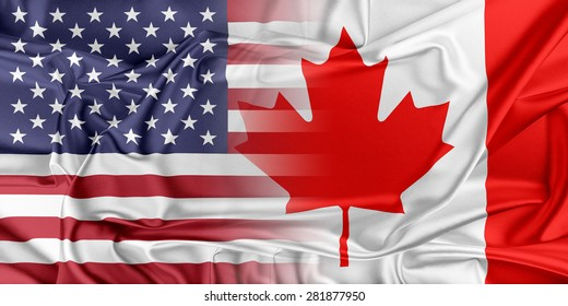 Relations between two countries. USA and Canada