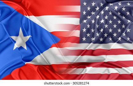 Relations between two countries. USA and Puerto Rico