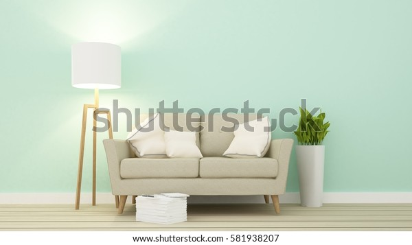 Relax space in apartment  - 3D Rendering