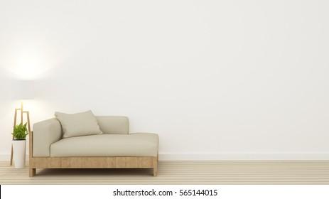 Relax space in condominium - 3d rendering