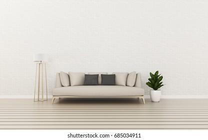 Relax space in condominium. Living room interior. -3d rendering