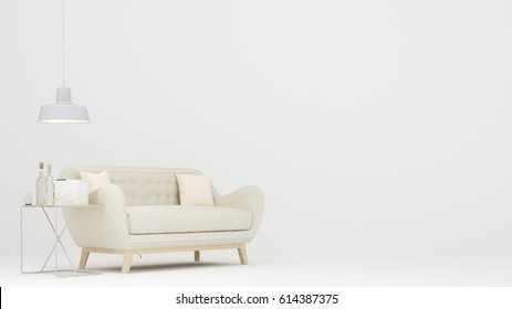 Relax space white background -3D Rendering