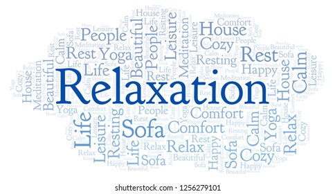 Relaxation word cloud.