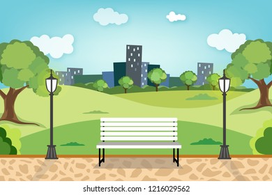 Relaxing time in city park : public area which many people come to do several activities together