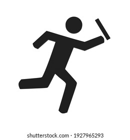 Relay race icon 3d illustration on white background