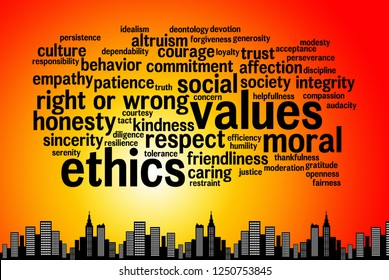relevant and important topics regarding values and ethics