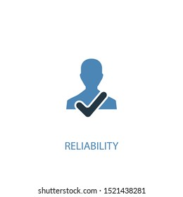 reliability concept 2 colored icon. Simple blue element illustration. reliability concept symbol design. Can be used for web and mobile UI/UX