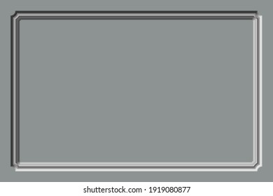 Relief frame on a gray homogeneous background.