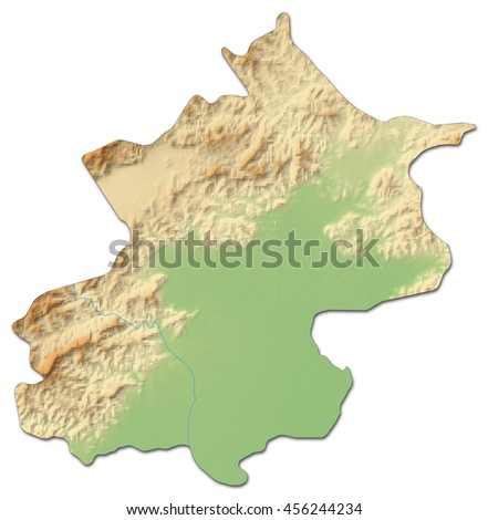 Royalty Free Stock Illustration Of Relief Map Beijing China 3 D