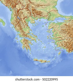 Relief Map of Greece - 3D-Rendering