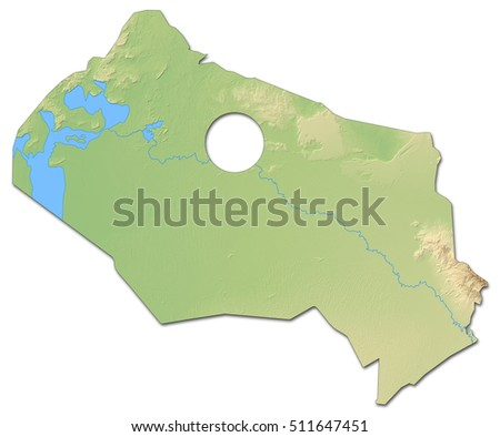 Relief Map Kyzylorda Kazakhstan 3 D Rendering Stock Illustration ...