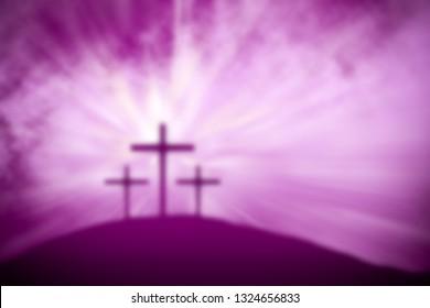religious easter purple lent background