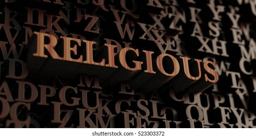 Religious - Wooden 3D rendered letters/message.  Can be used for an online banner ad or a print postcard.