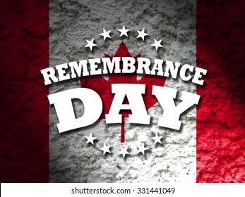 remembrance day canada banner canadian flag abstract grunge background illustration