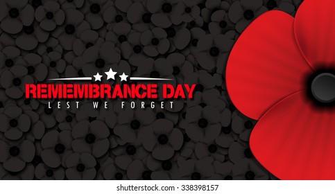 Remembrance Day poppy background