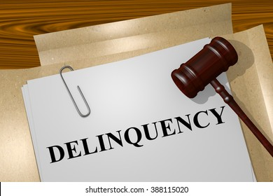 Render illustration of Delinquency title on Legal Documents