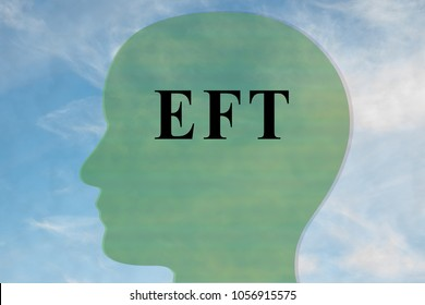 Render illustration of EFT title on head silhouette, with cloudy sky as a background.