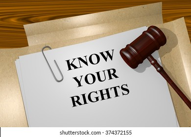 Render illustration of Know your Rights title on Legal Documents
