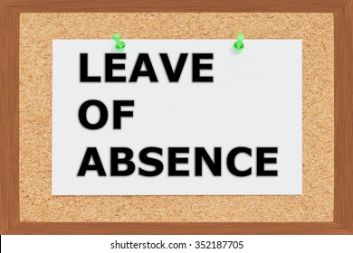 Render illustration of Leave of Absence title on cork board