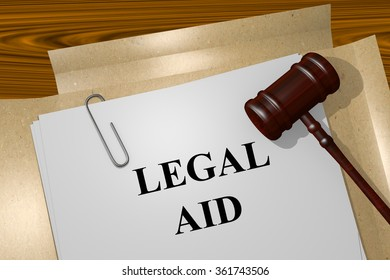 Render illustration of Legal Aid title on Legal Documents