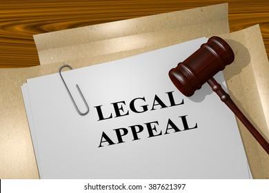 Render illustration of Legal Appeal title on Legal Documents