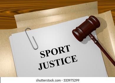 Render illustration of Sport Justice Title On Legal Documents