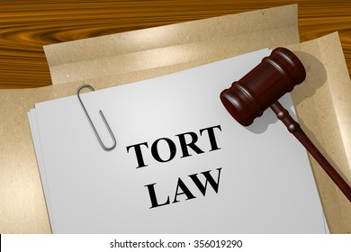 Render illustration of Tort Law title On Legal Documents