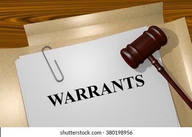 Render illustration of Warrants title on Legal Documents