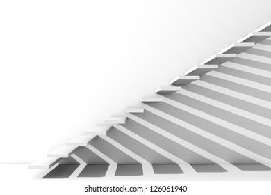 Render of a long stairway