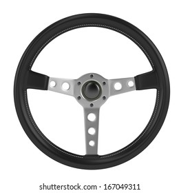render of steering wheel isolated