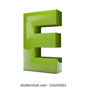 render of the text E