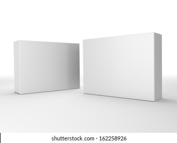 render of two paper boxes composition