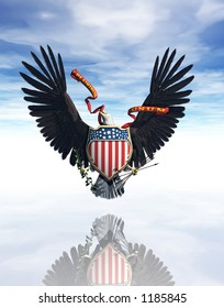 A rendering of the great seal of the United States