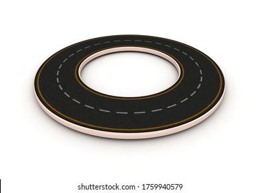 Rendering Illustration of Circular Road 3D