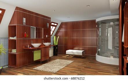 Royalty Free Stock Illustration Of Modern Bathroom Interior Marble