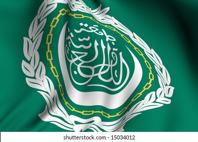 Rendering of a waving flag of the Arab League.