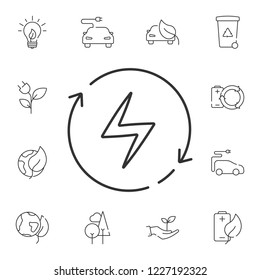 Renewable energy line icon. Simple element illustration. Renewable energy line symbol design from Ecology collection set. Can be used in web and mobile
