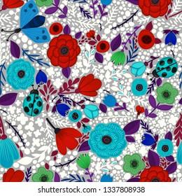 renkli çiçek desen 1