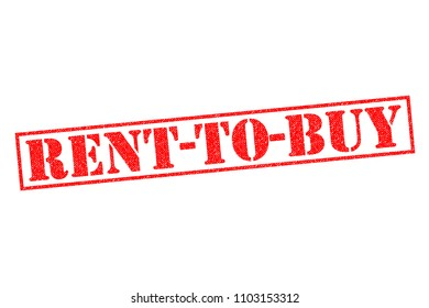 RENT-TO-BUY red Rubber Stamp over a plain white background.