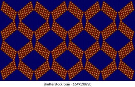 repeat African print pattern illustration.