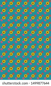 repetitive pattern, gift wrap for textile