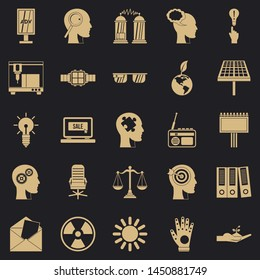 Representation icons set. Simple set of 25 representation icons for web for any design