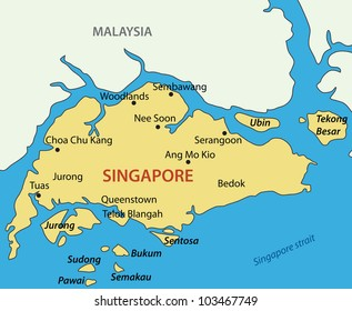 Republic of Singapore - map