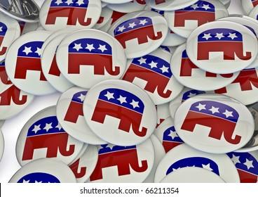 Republican badges